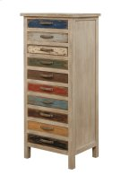 Emerald Home Pablo Pinewood Chest With 10 Multi-colored Drawers-ac313-10 Product Image