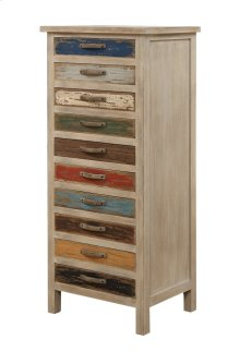 Emerald Home Pablo Pinewood Chest With 10 Multi-colored Drawers-ac313-10