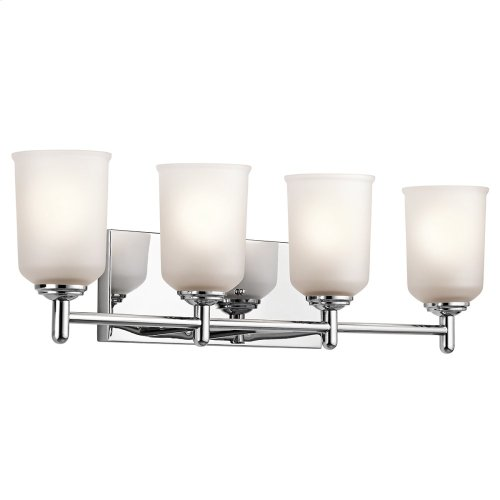 Shailene 4 Light Vanity Light Chrome