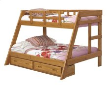 Heartland A-Frame Bunk Bed with options: Honey Pine, Twin over Full, Twin Trundle
