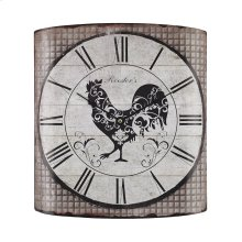 Stylized Rooster Wall Clock
