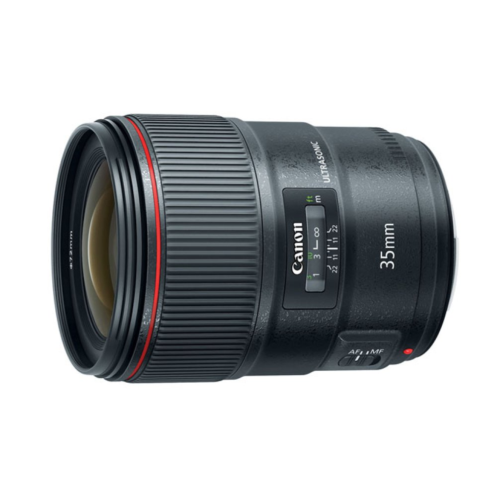 Canon EF 35mm f/1.4L II USM L Series wide angle prime lens