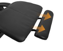 Perfect Chair Extending Footrest - All products - ExtendingFootrestinBlackSofHyde
