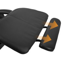 Perfect Chair Extending Footrest - Human Touch - ExtendingFootrestinBlackSofHyde