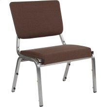 1500 lb. Rated Brown Antimicrobial Fabric Bariatric Medical Reception Chair with 3/4 Panel Back