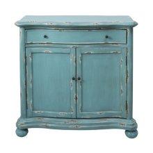Blue Distressed Crvd Frnt Door Cbnt