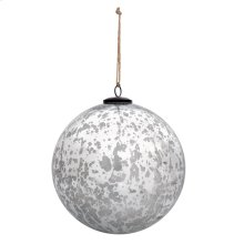 "6"" Classic Silver Ball Ornament"