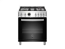 30 inch 4-Burner, Electric Self-Clean Oven Black