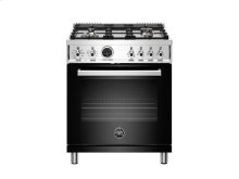 30 inch 4-Burner, Electric Self-Clean Oven Black