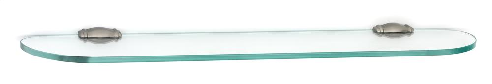 Charlie's Collection Glass Shelf A6750-24 - Satin Nickel
