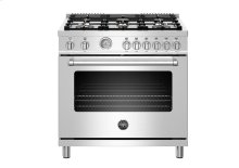 "36"" Master Series range - Gas oven - 6 brass burners"