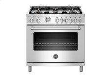"36"" Master Series range - Gas oven - 6 brass burners"