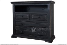 Terra Black 4 Drawer Media Chest