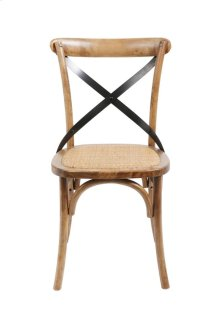 Brody X-back Side Chair-medium Brown
