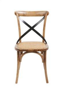 Brody X-back Side Chair-medium Brown