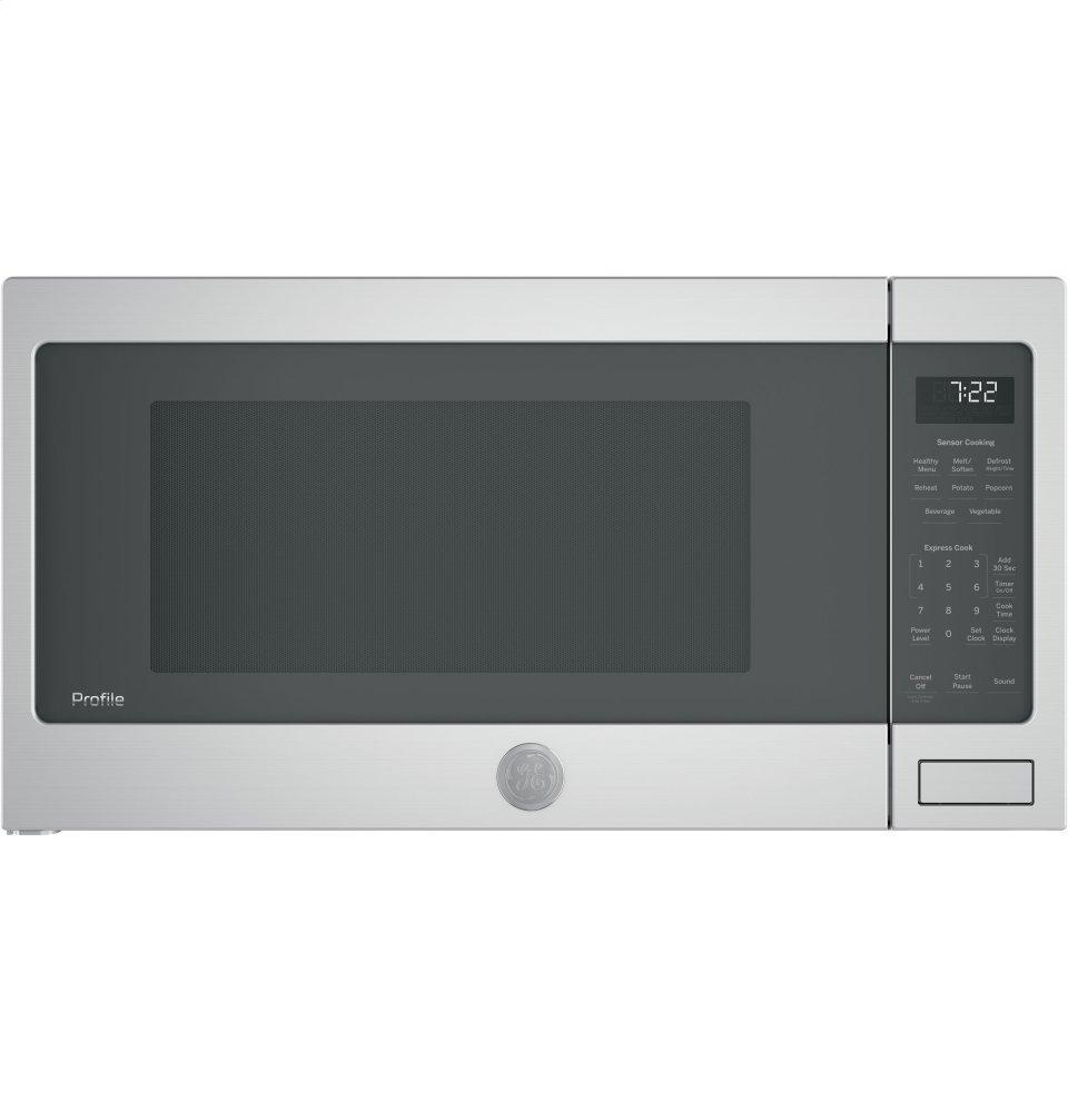 GE Profile(TM) Series 2.2 Cu. Ft. Countertop Sensor Microwave Oven  STAINLESS STEEL