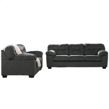 Signature Design by Ashley Accrington Living Room Set in Granite Microfiber [FSD-1339SET-GRT-GG]