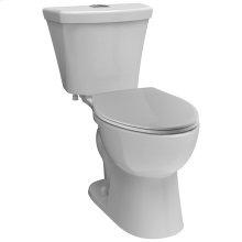 White Elongated Dual-Flush Toilet