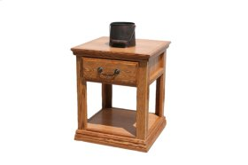 O-T248 Traditional Oak 1-Drawer End Table