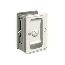 "HD Pocket Lock, Adjustable, 3 1/4""x 2 1/4"" Privacy - Polished Nickel"