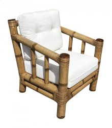 Kauai Lounge Chair w/beige cushion