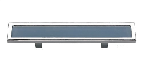 Spa Blue Pull 3 Inch (c-c) - Polished Chrome