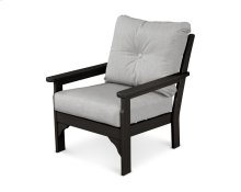 Black & Canvas Granite Vineyard Deep Seating Chair