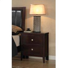 Carlton Cappuccino Two-drawer Nightstand