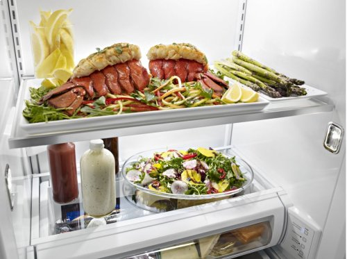 29.5 cu. ft 48-Inch Width Built-In Side by Side Refrigerator - Stainless Steel