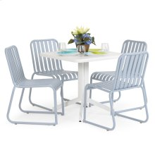 0100 Series 5PC Dining Set Smoke Blue Finish