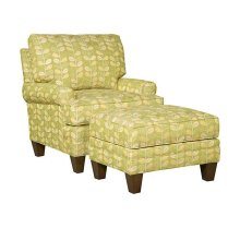 Kelly Fabric Chair, Kelly Ottoman