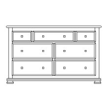 "Havenridge 7 Drawer 60"" Dresser"