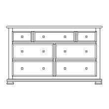 "Havenridge 7 Drawer 60"" Dresser"