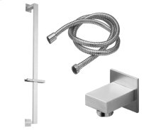 Slide Bar Handshower Kit - rectangle Handle With Rectangle Base