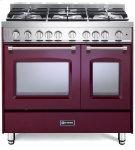 "Burgundy 36"" Gas Double Oven Range - Prestige Series Product Image"