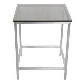 Shea KD End Table Frame(TOP SOLD SEPARATELY), Brushed Stainless Steel