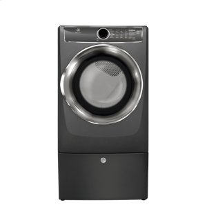 Front Load Perfect Steam Electric Dryer with Instant Refresh and 9 cycles - 8.0 Cu. Ft. - TITANIUM
