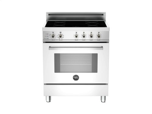 30 4-Induction Zones, Electric Self-Clean oven White
