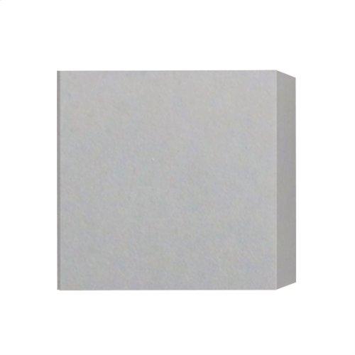 Castle LED Sq. Wall Sconce Concrete / Shiny White