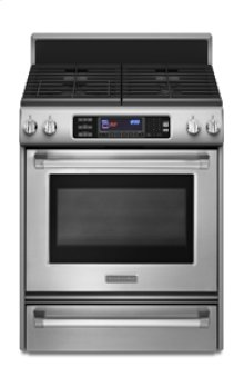 Freestanding  Gas Range  True Convection Oven  Frameless Cooktop  Full-Width Cast-Iron Grates  Four Sealed Burners  TripleTier® 600-15K Gas Burner  Pro Line™ Series