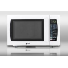 Large 1000W microwave in white finish