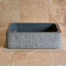 Farmhouse Sink With Chiseled Apron, 8 Inch Depth Blue Gray Granite Product Image