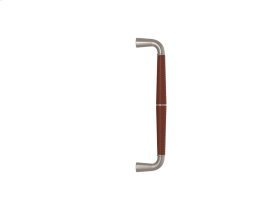 Tube Split Stitch Out Goose Neck Combination Leather In Chestnut And Satin Nickel
