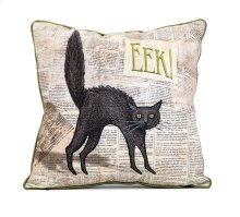 Apothescary Halloween Cat Pillow