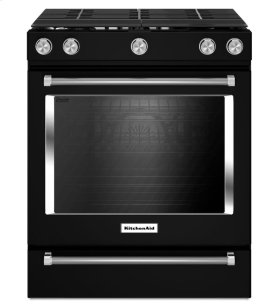 30-Inch 5-Burner Gas Slide-In Convection Range - Black