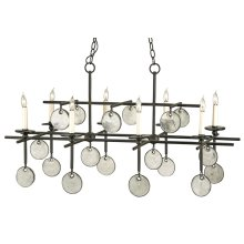 Sethos Black Rectangular Chandelier