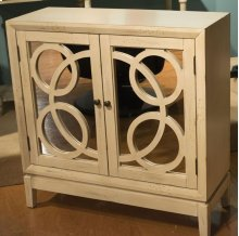 Antique Washed Accent Cabinet / Mirrored Front Cabinet