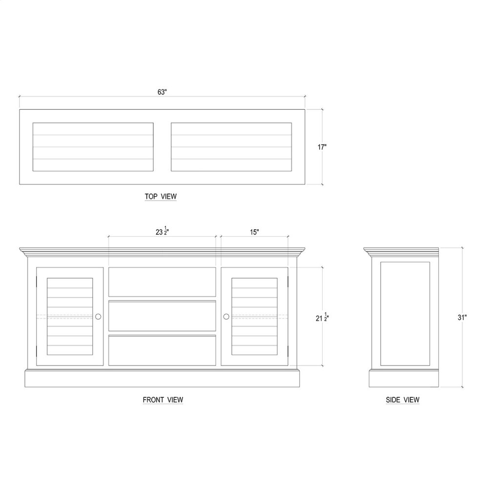 24498WHD in by Bramble in Austin, TX - Shutter Media Cabinet - WHD