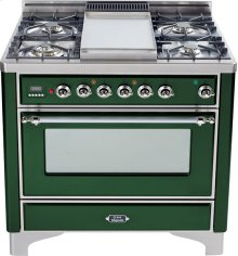 Emerald Green with Chrome trim - Majestic 36-inch Range with 6-Burner