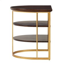 Virage Demilune End Table in Truffle